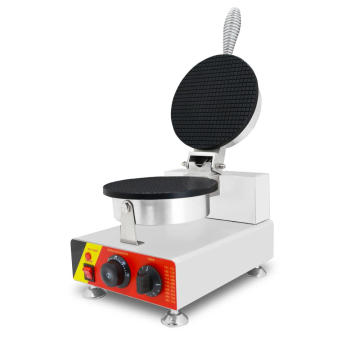 Single head ice cream cone waffle maker