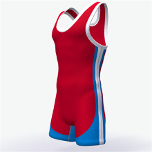 Custom high cut sublimated youth wrestling singlet