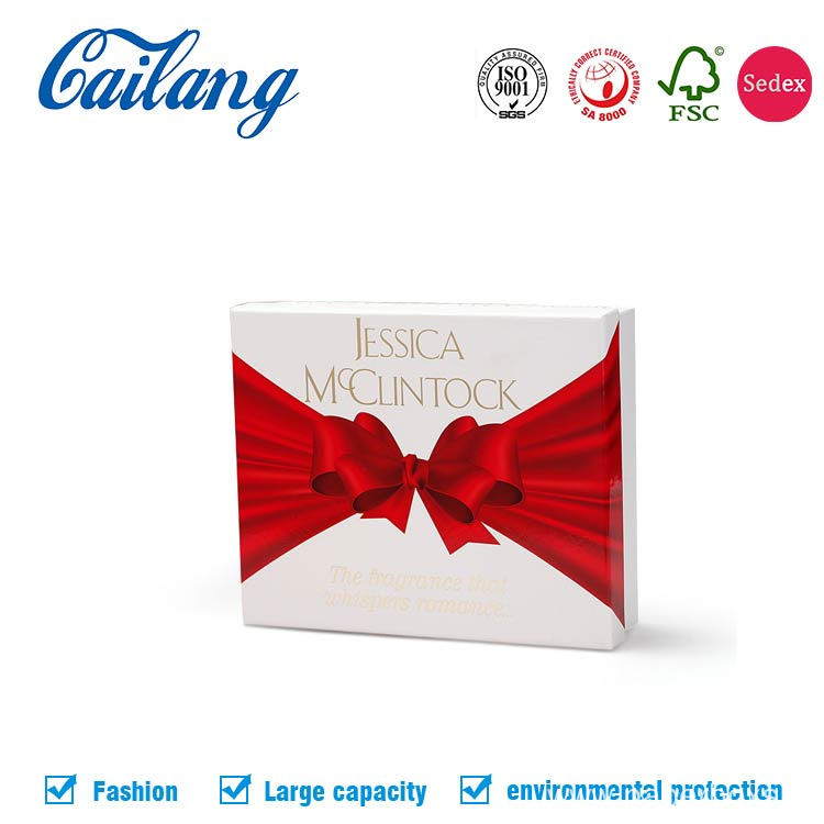 Luxury White Matt Cosmetics Paper Box with Blister