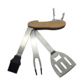 Stainless Steel Folding Barbecue Grill Multi-Tool Set