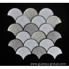 Gray Sector Shape Wall Decoration Mosaic