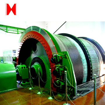 Single-rope winding mine hoist