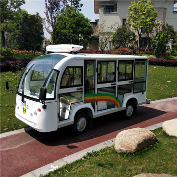 Modern elegant 8 seats electric open sightseeing shuttle bus