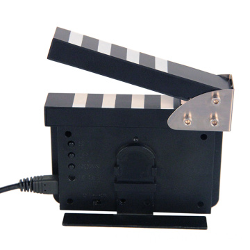 Movie clappers electric time clock with date