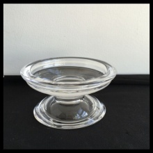 Glass Footed Pillar Holder