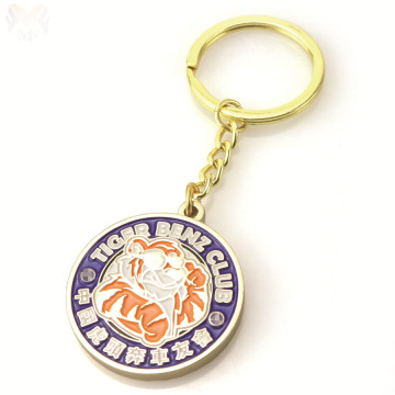 Custom metal car logo keychain for club
