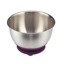 5QT Purple Silicone Base Mixing Bowl