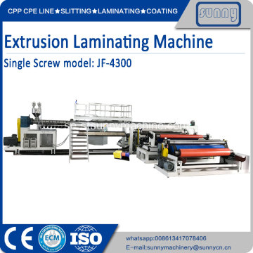 2-sidig PE PP extrusionslamineringsmaskin
