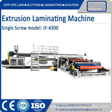 China for Extrusion Pu Coating Fabric Machine Single Screw Extrusion Laminating Machine export to Germany Manufacturer
