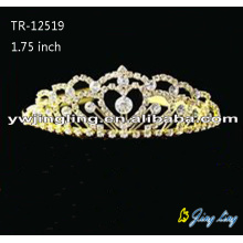 Beauty Crystal Bride Gold Tiara