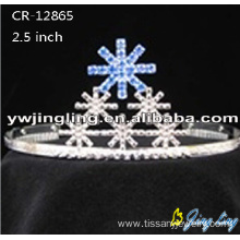 Factory wholesale price for Christmas Crowns Holiday Crown Snowflake shape CR-12865-3 supply to Hungary Factory