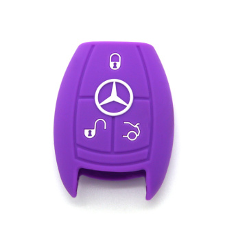 durable custom car key case with Benz logo