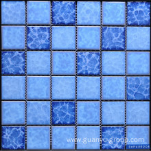 Snowflake Pattern Color Mixed Porcelain Mosaic