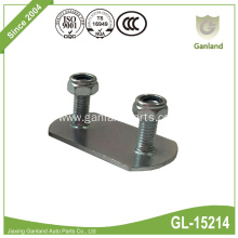 Steel Buckle Attachment Plate /Roller Two bolts Plate