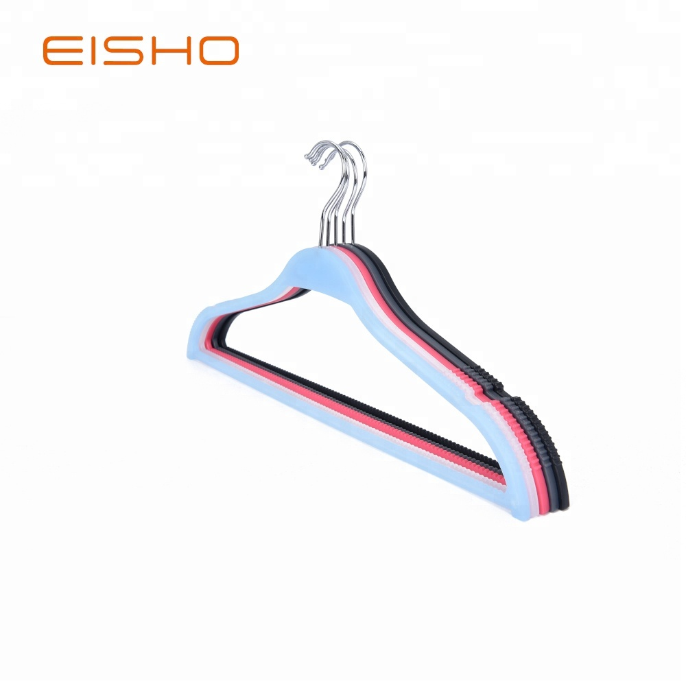Eisho New Design Bule Plastic Hangers For 1