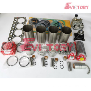 excavator 4D31 engine gasket bearing piston ring liner