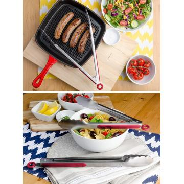 Stainless Steel BBQ Grilling Tongs for Outdoor Barbecue