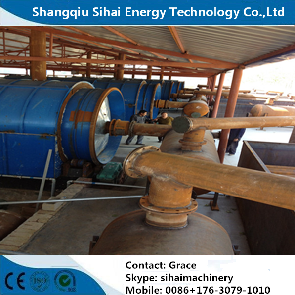 Technician Available Waste Tire Process to Oil Machine