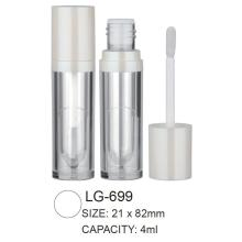 Plastic Cosmetic Round Empty Lipgloss Packaging