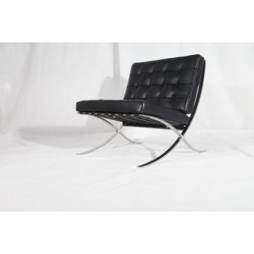 Modern Furniture Black Leather Barcelona Chair Replica