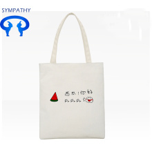 Simple canvas single shoulder bag soft girl handbag