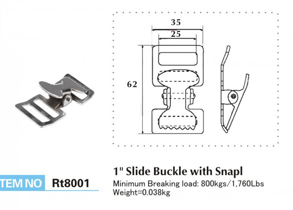 Easy-Use Packing Cam Buckle Clipper for 1'' Strap