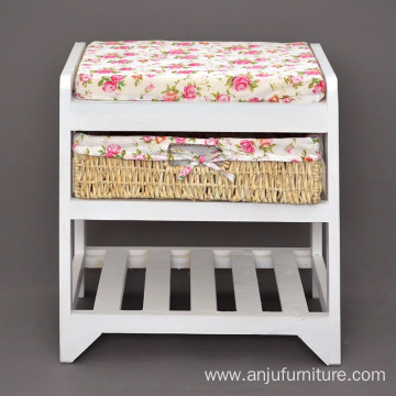 Chest with Shoe Rack with basket and shelf Hallway Bench
