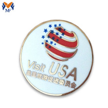 Metal union jack pin button badge travel badge