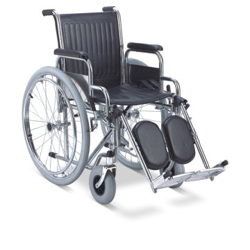 Hospital Home Conveniente silla de ruedas plegable de acero