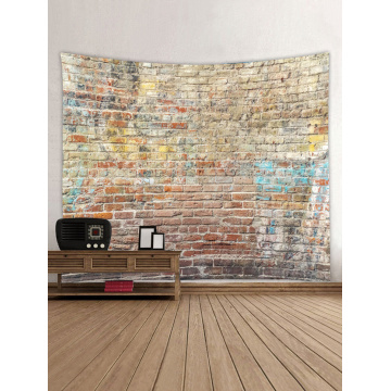 Colored Brick Wall Tapestry Stone Tapestry Wall Hanging Tapestry Polyester Print for Livingroom Bedroom Home Dorm Decor