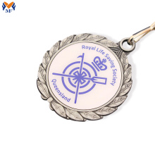Metal award epoxy sticker medal