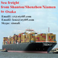 Sea freight services from Shantou to Osaka