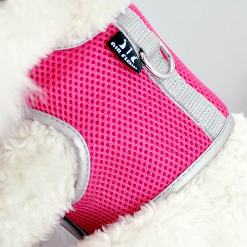 Hot Pink Airflow Mesh Harness with Velcro back