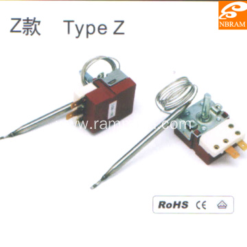Type Z Stainless Steel Capillary Thermostat