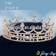 Full Round Rhinestone Pageant King Crowns For Sale
