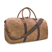 New Fashion Design for Duffel Bags Waterproof Canvas Overnight Weekend Carryon Bag export to Congo, The Democratic Republic Of The Factory