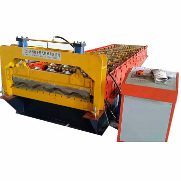 Automatic colored container car panel forming machine