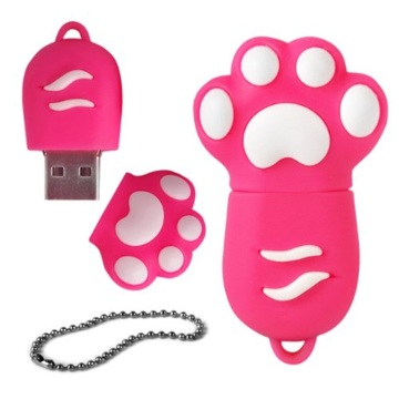 Pvc Cartoon Paw Personalised Usb Flash Drive