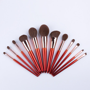 12Pcs red makeup brush set Cosmetics Kit