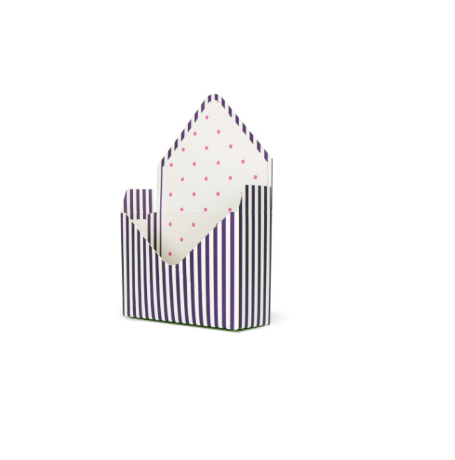 Envelope shaped flower paper box