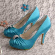 Aqua Blue Wedding Shoes for Bridesmaids
