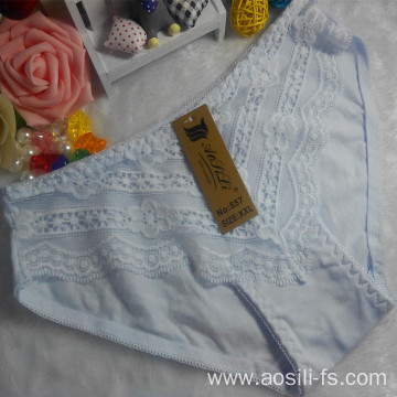 OEM wholesale new style white sexy comfortable lace cotton fancy panty 557