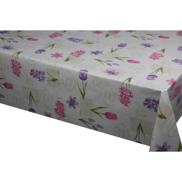 Pvc Printed fitted table covers Mustard Yellow