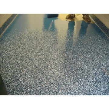 Color sand mortar floor paint