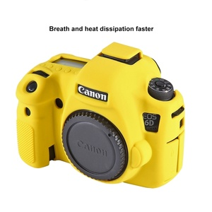 Yellow Silicone Camera Cover Simple Small Camera Case