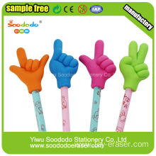 Cute Rubber Eraser For Pencil WIth Finger Shape