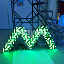 SMD indoor background dj stage led triangolo dello schermo