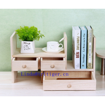 Wholesale cheap Adjustable Wood Desktop Storage Organizer Display Shelf Rack, Counter Top Bookcase