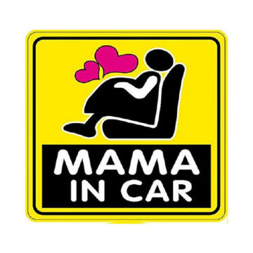 Diamond shape MaMa in Car Magnet Reflective Sticker