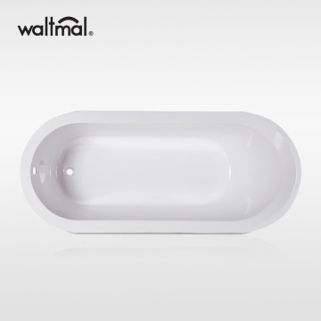 Evolution End Drain Soaking Tub in White